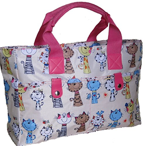 Bolso que hace punto / Bolso / Bolsa de playa. Para mujer, Gatos / Luz