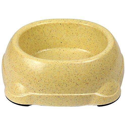 Umweltfreundliche Bambusfaser Pet Food Dish Katze Essen Schüssel Hund Schüssel Medium Trinkwasser Schüssel Hundefutter Schüssel (Color : Khaki) -