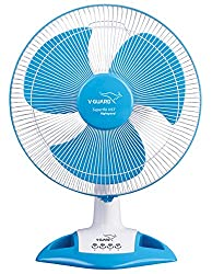 V Guard Table Fan Superflo HST - White Blue