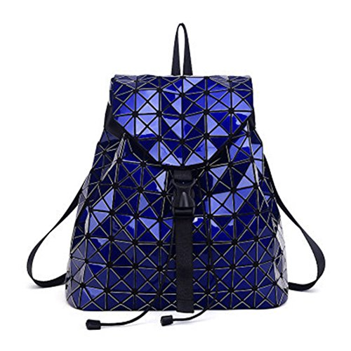 0495c0fab91a8a Fashion Nottilucent Women Backpack Diamond Lattice Bag Ologramma Bag Travel  Geometric Teenage Girl School Zaino Luminoso