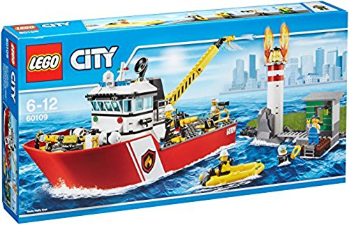 LEGO City 60109 - Feuerwehrschiff, Cooles Spielzeug für Kinder