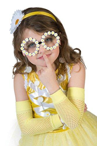 Karneval Klamotten Kostüm Brille Gänseblümchen Zubehör Fasching Karneval