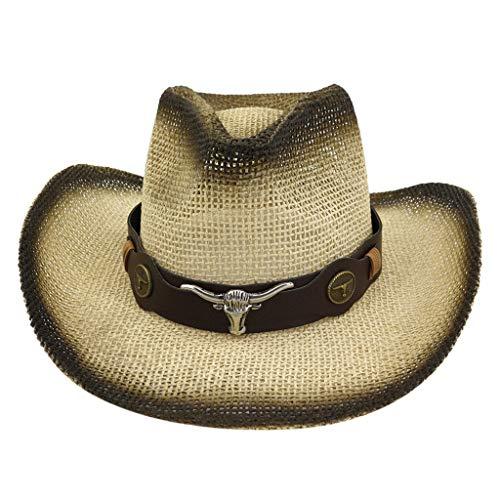 Realde Herren Damen Western Cowboyhut Mode Beiläufige Aussehen Warme Einfarbig Slouch Hut Sonnenhut Perfekt für den Reisen Im Freien Frühjahr Sommer Flexibler Warm Cap