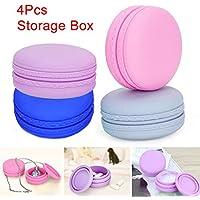 symboat 4PCS bunt Mini Macaron Form-Box, Süßigkeiten Schmuck Organizer Pille Fall Container Spielzeug Props preisvergleich bei billige-tabletten.eu