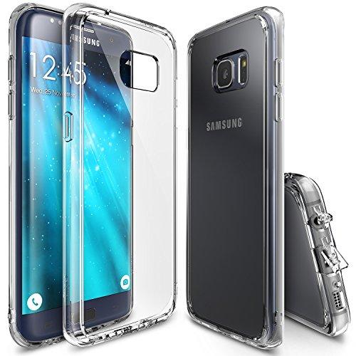 Galaxy S7 Edge Hülle, Ringke FUSION Kristallklarer PC TPU Dämpfer (Fall Geschützt/ Schock Absorbtions-Technologie) für das Galaxy S7 Edge 2016 - Clear - Telefon Fall Jordans