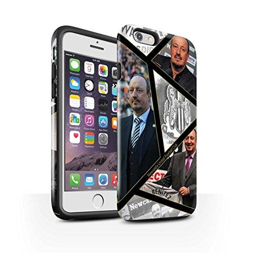 Officiel Newcastle United FC Coque / Brillant Robuste Antichoc Etui pour Apple iPhone 6 / Pack 8pcs Design / NUFC Rafa Benítez Collection Montage
