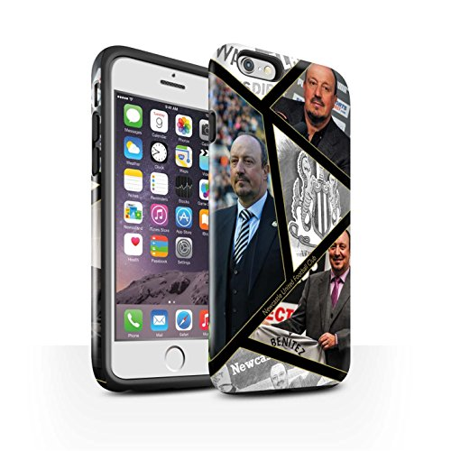 Offiziell Newcastle United FC Hülle / Glanz Harten Stoßfest Case für Apple iPhone 6S / Pack 8pcs Muster / NUFC Rafa Benítez Kollektion Montage