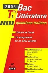 Bac littérature Tle L : Les Métamorphoses ; Les Caractères ; Le Procès ; Les Planches courbes