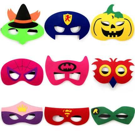 thematys Kinder-Masken Superhelden Maske 9er Set - Perfekt -
