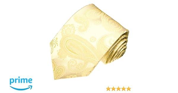 champagne Lorenzo Cana Cravate en soie italienne 100/% soie tr/ès noble avec un motif paisley en blanc ivoire