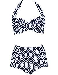 Bikini de estilo retro para mujer