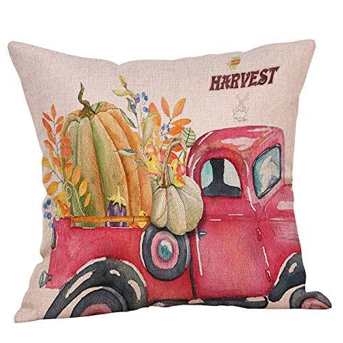 Hjgshd Halloween Deko Kissenbezüge Leinen Sofa Cartoon Kürbis Kissenbezug Home Decor (H)