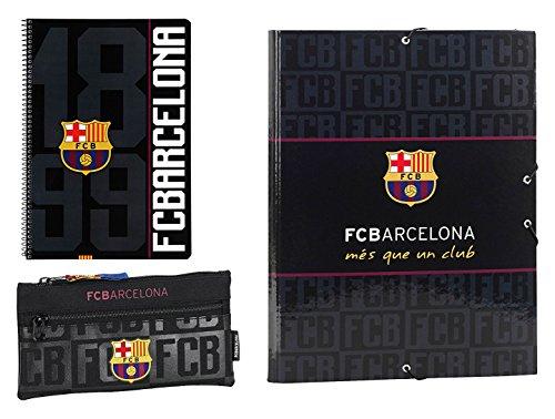 Futbol Club Barcelona- F.C FC Barcelona Set de Regalo pequeño, Color Negro, 35 cm (SAFTA 311725587)