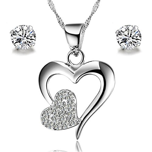 gilind-925-sterling-silver-double-heart-necklace-and-earrings-set-for-women-gift-box