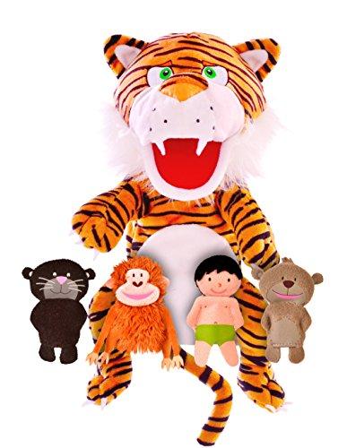 Fiesta Crafts : El libro de la selva : Marioneta de mano y 4 marionetas del dedo