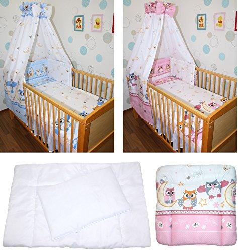 5-20 teiliges Baby Bettse mit Bettwäsche Himmel Nestchen tEULE ROSA BLAU Rosa 6 tlg