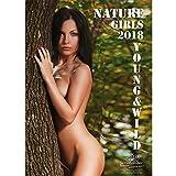 Premium Calendrier 2018 - DIN A3 - Nature Girls - Coffret Cadeau avec 1 carte de vœux et 1 Carte de Noël - Edition âme magique