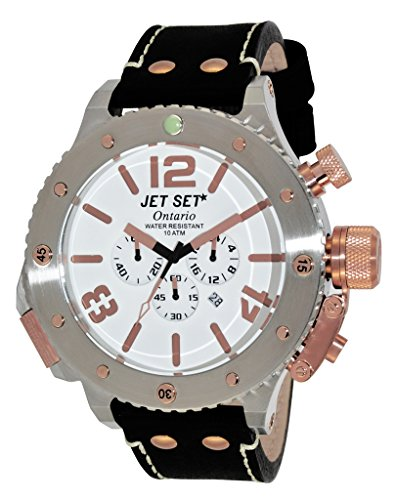 Jet Set - Reloj de cuarzo color negro