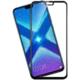 Knotyy Edge To Edge 5D Curved Full Tempered Glass Screen Guard For Honor 8X (Black)