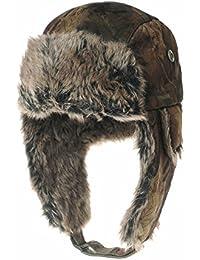 c457a9ad31b WITHMOONS Strickmützen Seemannsmütze Ear Flap Beanie Hat Amazon Forest Leaf  Pattern Faux Fur LX7521