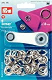 Nähfrei-Druckknopf Jersey Messing 18mm, Farbe:silberfarbig