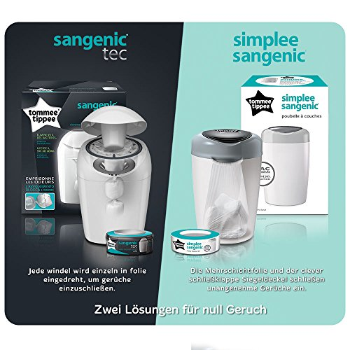 Tommee Tippee Sangenic Tec Nappy Disposal Starter Pack 513HDCfI73L