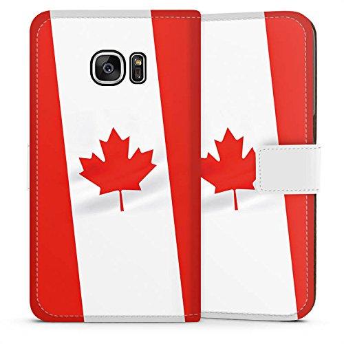 Samsung Galaxy S7 Tasche Hülle Flip Case Kanada Flagge Flag