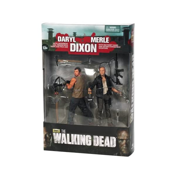 Mc Farlane - Figurine - The walking Dead - Série TV Pack Daryl et Merle Dixon serie 4 - 0787926144994 1