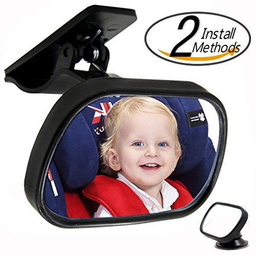 Magicmoon Infrangibile Specchietto retrovisore Baby sedile, Facilmente guardare il vostro bambino con vista libera e Progettazione di rotazione Regolabile - Set di