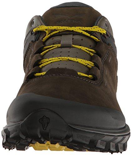 Salewa Wander Hiker Leder Halbschuh, Chaussures de Trekking et Randonnée Homme Multicolore (Black Olive/bergot)