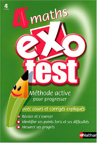 Exo-test : Maths, 4ème