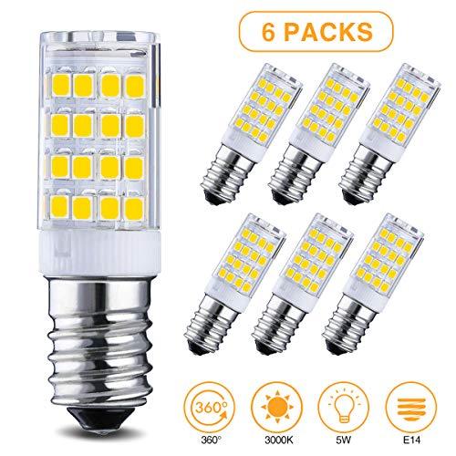 Elfeland 6x E14 LED Lampen LED Mais Glühbirne 3.5W Ersatz für 35W Halogenlampen led Glühlampen Warmweiß 3000K 330LM 360 ° Strahlwinkel nicht dimmbar Birnen für Deckenlampen, Wandlampen, Tischlampen -