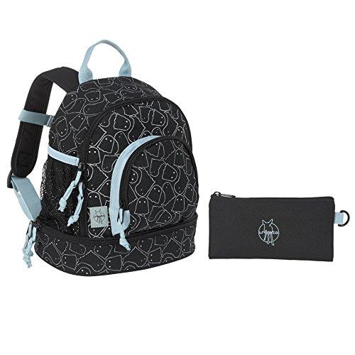 LÄSSIG Kinderrucksack mit Brustgurt Jungen Kindergartentasche Kindergartenrucksack / Mini Backpack, Spooky, Schwarz