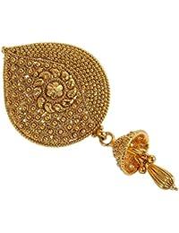 Broche para el pelo, al estilo indio Bollywood, con revestimiento de oro, joyas étnicas tradicionales para mujeres