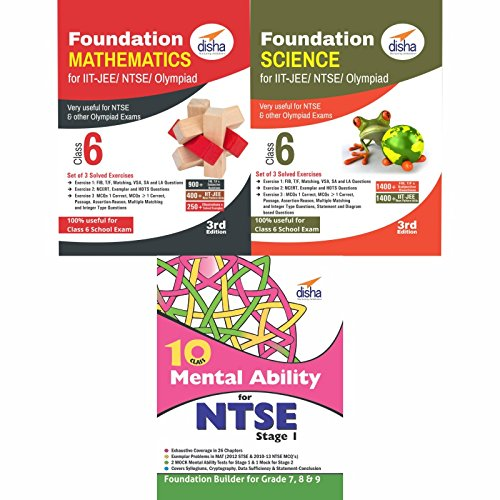 Foundation Science/Mathematics/Mental Ability for IIT-JEE/NTSE/Olympiad Class 6