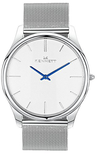 Mens Kennett Kensington Rose Gold White Milanese Watch KRGWHMIL