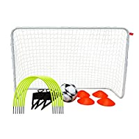 Woodworm Elite Football Goal Training Skills Set - Passing Arc, Defenders, Cones