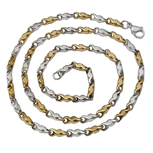 Sullery 2 mm Thickness Plain Classic Design Wheat Link Gold Stainless Steel Chain