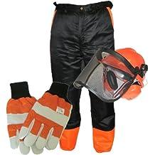 MSL - Kit de protección para motosierra (incluye pantalones XXL, guantes pequeños y casco)