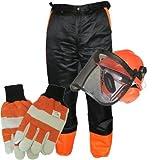 MSL-Kleine Kit-Schutz für Kettensäge inkl. XXL Hose, Handschuhe und Helm)
