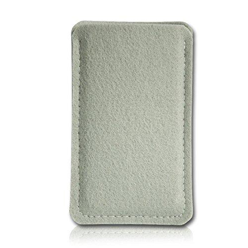 Filz Style Mobistel Cynus E4 Premium Filz Handy Tasche Hülle Etui passgenau für Mobistel Cynus E4 - Farbe grau
