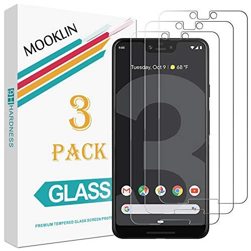 MOOKLIN Panzerglas Displayschutzfolie für Google Pixel 3 XL, 9H Härte, Anti-Kratzen, Anti-Bläsche, [3 Stück]