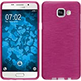 Coque en Silicone pour Samsung Galaxy A5 (2016) A510 - brushed rose chaud - Cover PhoneNatic Cubierta + films de protection