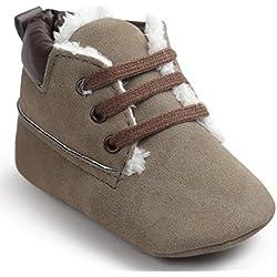 Kingko® Moda Culla pattini di bambino molli suola in cuoio pattini infantili ragazzo della neonata di inverno pattini caldi (0~6 mesi)