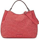 MIYA BLOOM, Damen Handtaschen, Henkeltaschen, Umhängetaschen, Hobo-Bags, Beuteltaschen, 40 x 29 x 13,5 cm (B x H x T), Farbe:Koralle