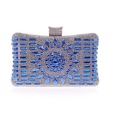pwne L. In West Woman Fashion Luxus High-Grade Diamdons Abend Tasche Blue