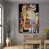 Rjjwai Gustav Klimt Von Die Drei Lebensalter Der Frau Ölgemälde Auf Leinwand Poster Und Drucke Skandinavische Wandkunst Bild Für Wohnzimmer Schlafzimmer 40x60cm