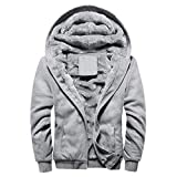 Manadlian Männer Mantel Herren Winter Warm Kapuzenpullover Vlies Reißverschluss Sweatshirt Jacke Outwear Mantel