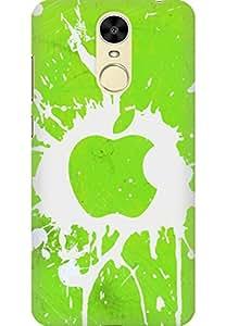 AMEZ designer printed 3d premium high quality back case cover printed hard case cover for Huawei Enjoy 6 (green splash white apple logo)