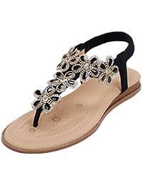 Erwachsene Sandalen Flip Flops Brasil Logo Sommer Schuhe Mode Bohemian Strass Flache Zehe Große Größe,Brown-45